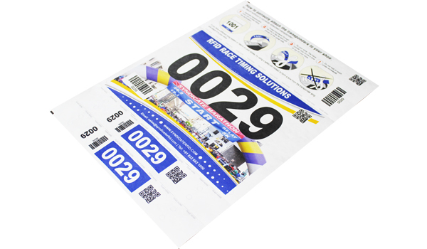 Number Bib with 2 Shoe Lace Tag Transponders